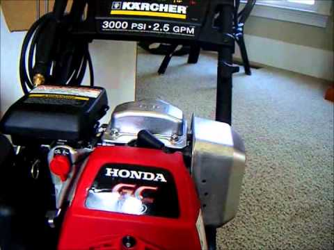 karcher  psi pressure washer  honda engine youtube