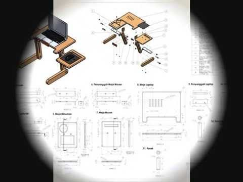 Awria Product: design, animation and simulation of laptop table with solidworks 2013.