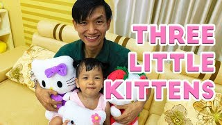 Nora Pretend Play with Three Little Kittens