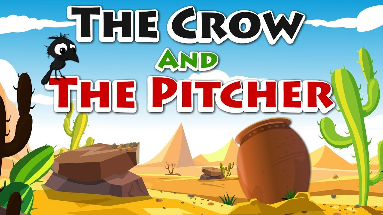 The Crow and the Pitcher | The Thirsty Crow | Aesop Fables For Kids By Kids  Tv