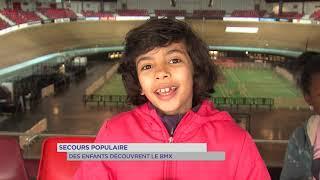 Secours populaire : des enfants découvrent le BMX