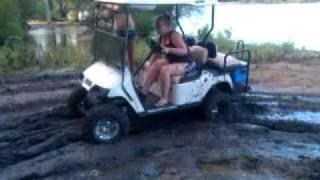 chicks mudding ezgo golf cart