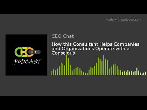 How this Consultant Helps Companies and Organizations Operate with a Conscious