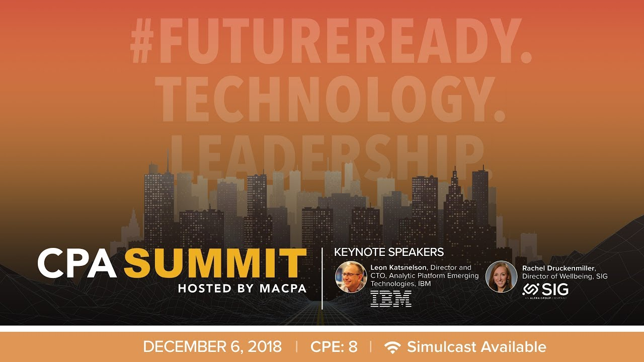 2018 CPA Summit | Maryland Association of CPAs (MACPA)