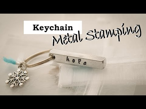 DIY Winter Keychain Tutorial || ImpressArt Metal Stamping