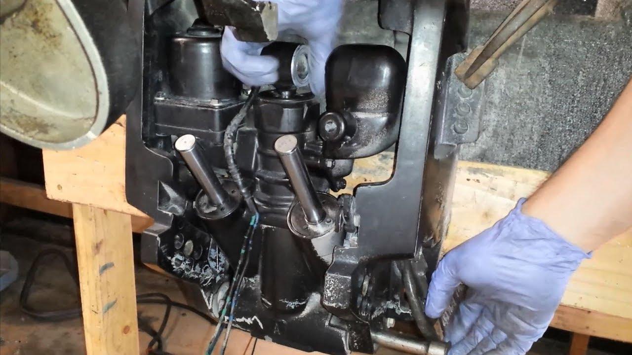 1992 johnson 90 hp bench testing removing power trim and tilt [ 1280 x 720 Pixel ]
