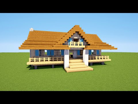 Minecraft tuto comment faire une petite maison map youtube - Plan de maison facile ...