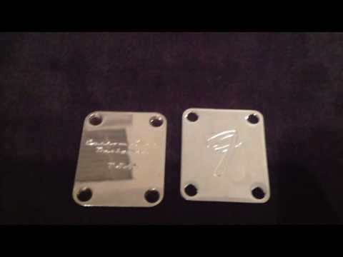 Fender Vintage Neck Plate 3-bolt from 1978 Brass Work Series from YouTube · Duration:  57 seconds