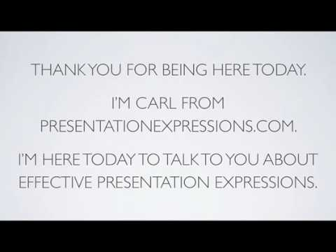 "An easy ""presentation example"" to introduce your presentation - YouTube"