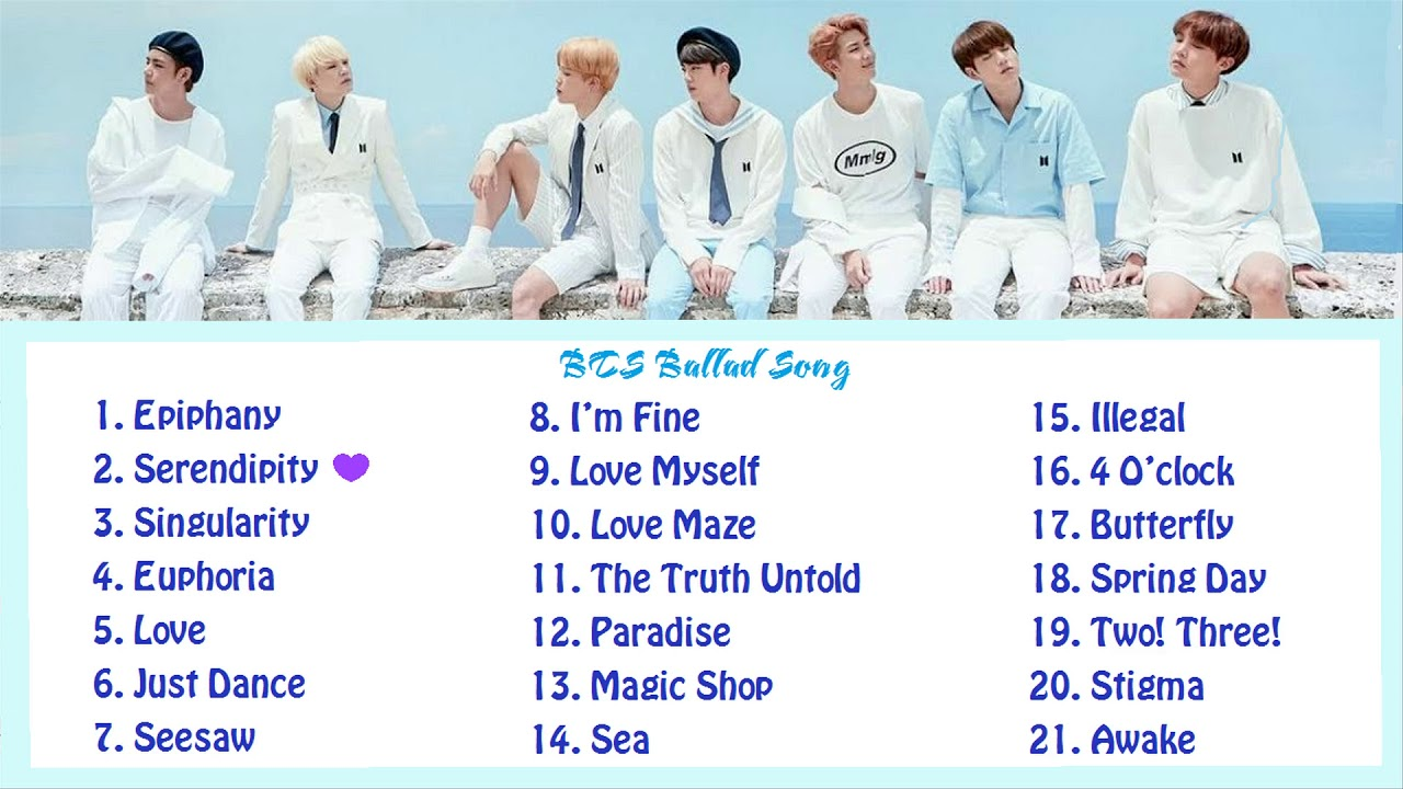 [Playlist] BTS Ballad Songs - For studying, relaxing and sleeping