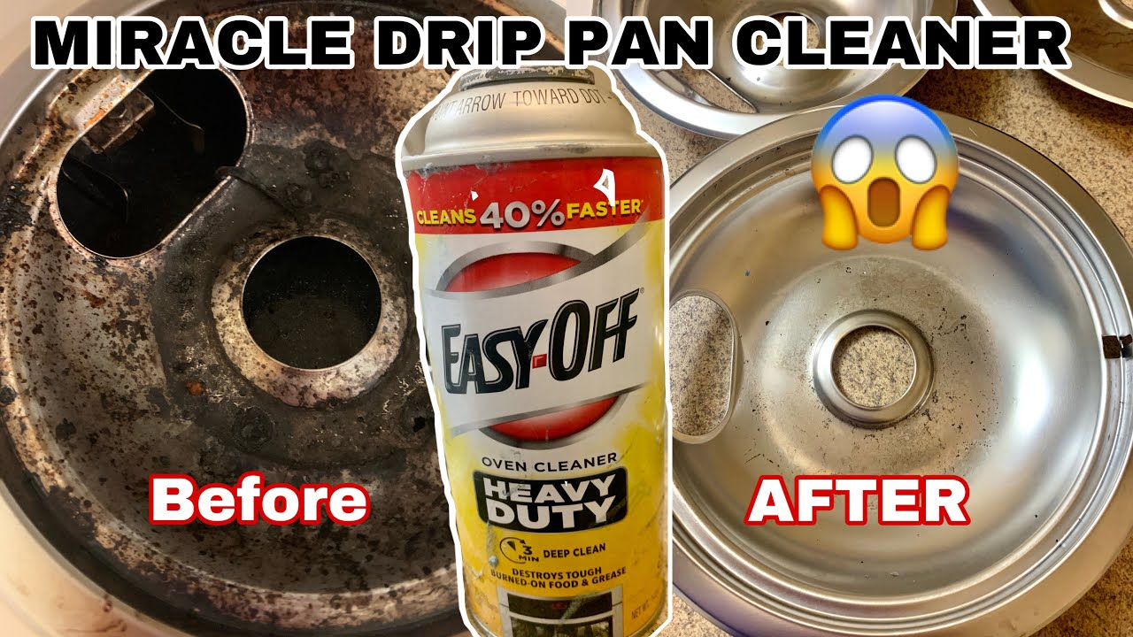 THE BEST WAY TO CLEAN DRIP PANS/NO SCRUBBING/FAST & ONE INGREDIENT [HOW TO CLEAN DRIP PANS]