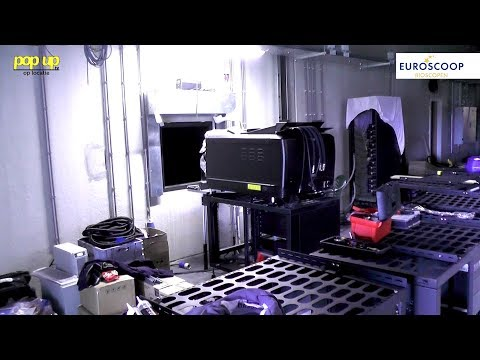 PopUpTv: De filmprojectoren en speakers worden geplaatst in de Euroscoop!
