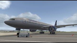X-Plane 11 ► Boeing 777-200 LR ►Сочи-Баку►Обрыв закрылок и падение► (URSS-UBBB).