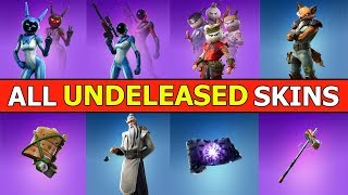 *ALL* UNRELEASED SKINS, EMOTES, PICKAXES & GLIDERS! FORTNITE LEAKED COSMETICS