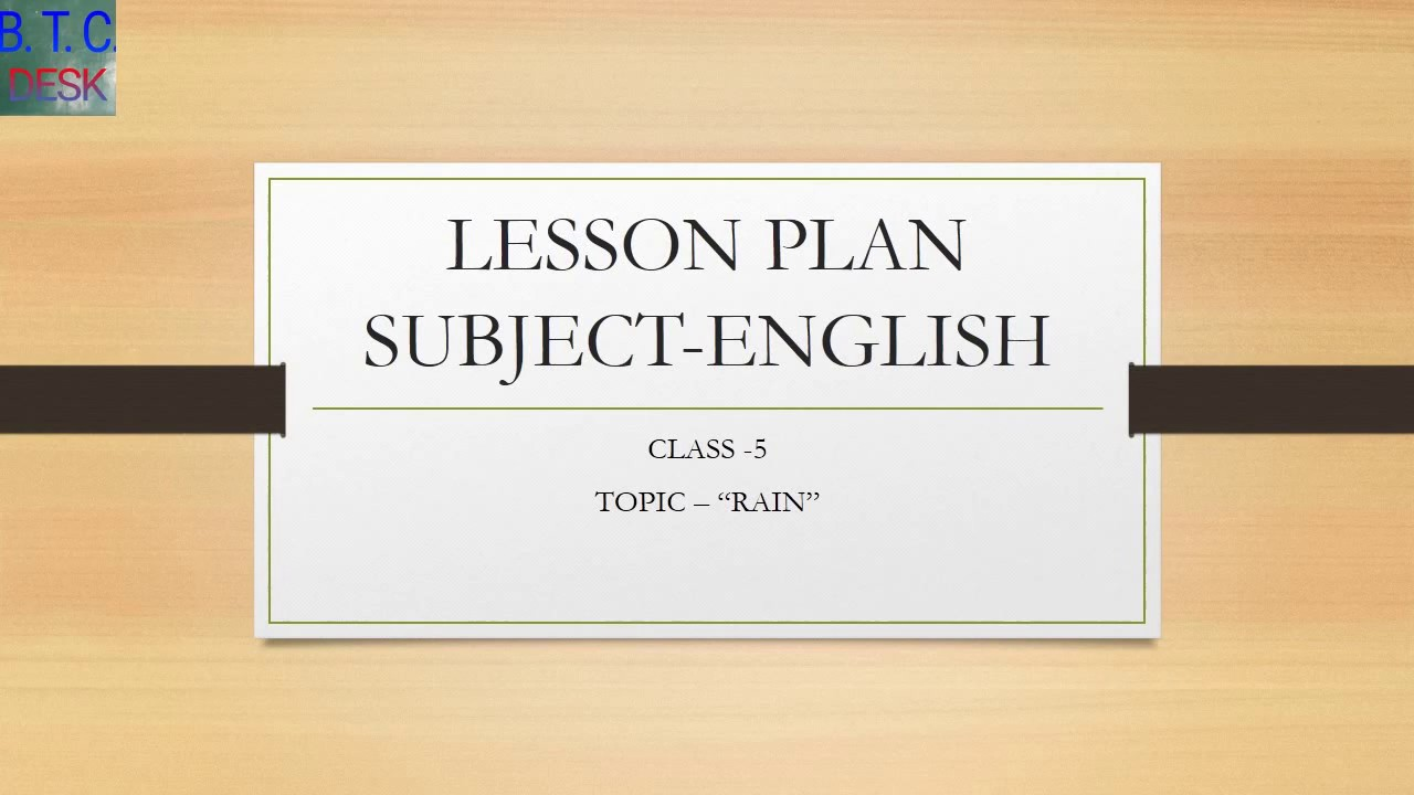 BTC LESSON PLAN OF ENGLISH FOR PRIMARY CLASSES