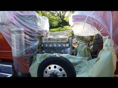 Дальнобой. США. Подготовка и покраска двигателя на Бизоне.