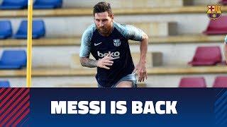 Messi, Piqué, Jordi Alba and Busquets back to work