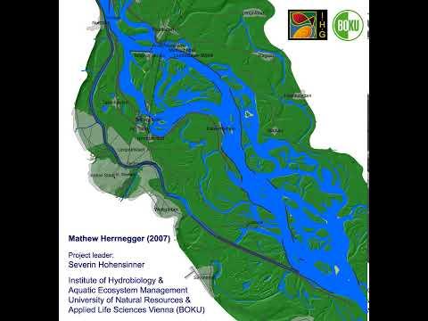 Flood at the Danube River in Vienna 1849 - Donau-Hochwasser in Wien 1849