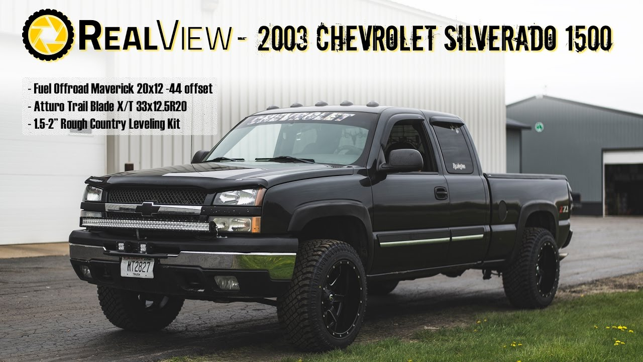 Realview Leveled 2003 Chevy Silverado 1500 W 20 Fuel Mavericks 33 Atturo X Ts