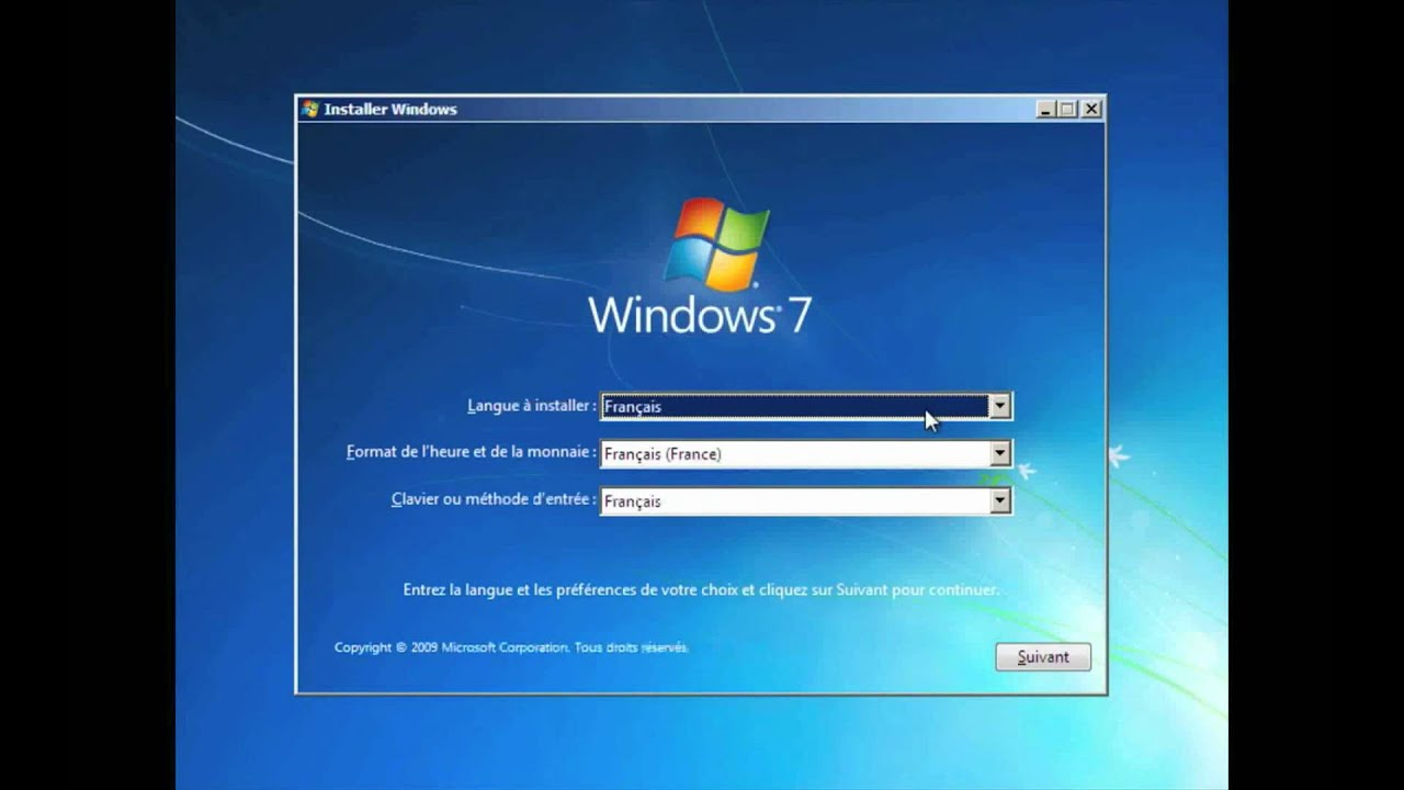 Installer Windows 7 - YouTube