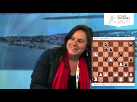Judit Polgar on the Chess Olympiad webcast - Round 2