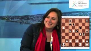 Judit Polgar on the Chess Olympiad webcast - Round 2
