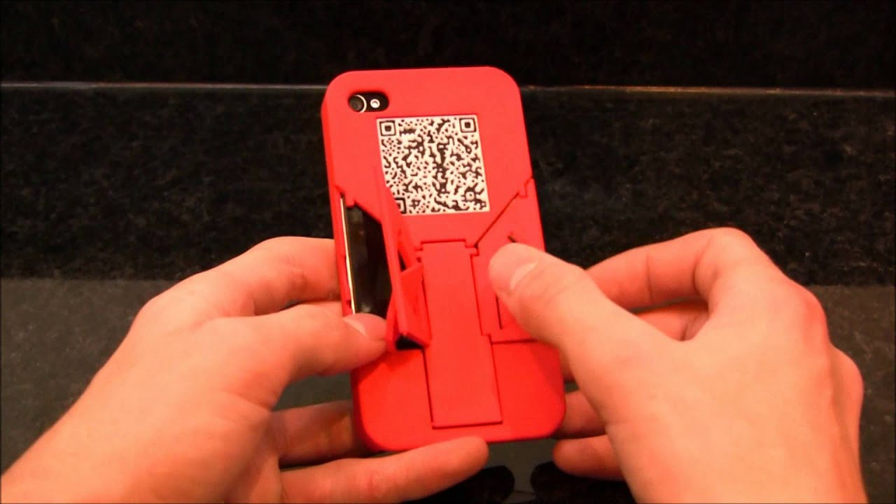 3D Printed iPhone Case with 3 in 1 Built In Stands and a QR Coded ...