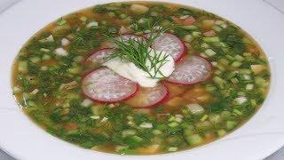 Урааа! КВАС и ОКРОШКА! Освежающий холодный суп в летнюю жару! | OKROSHKA COLD SOUP