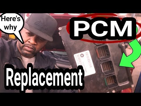 Chrysler Jeep Dodge PCM replacement. How to replace a Engine Control ECU Computer P0601 P0605.
