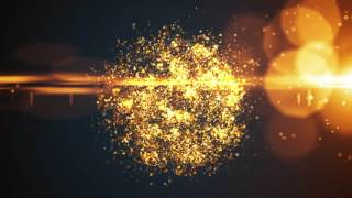 Glowing Particle Logo Reveal 16 : Golden Particles 04 After Effects Template thumbnail