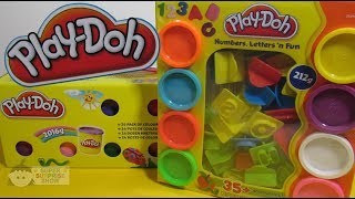 PLAY DOH 24 Mega Pack of Colors and PLAY DOH Letters, NUMBERS n fun Set unboxing fun – 3S