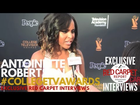 Antoinette Robertson DearWhitePeople ed at 38th College Television Awards