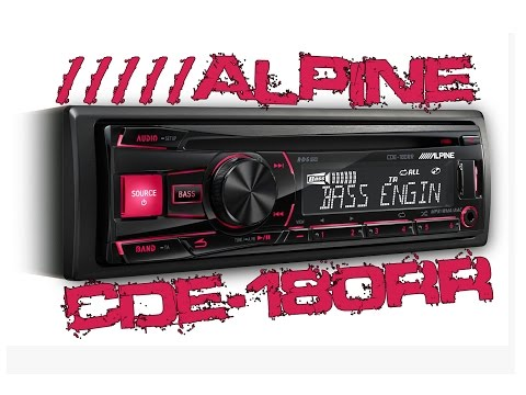 Alpine CDE180RR Car CD MP3AuxUSB Stereo  Demo & Review