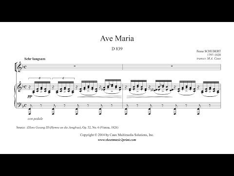 Schubert : Ave Maria - F Major - A NEWER VERSION IS AVAILABLE!