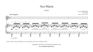 Schubert : Ave Maria (Latin) - Alto or Bass Voice