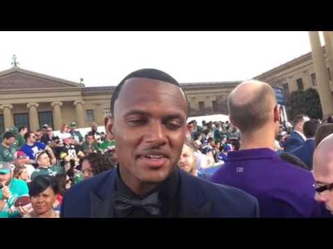 DeShaun Watson Of Houston Texans Meets Media At 2017 NFL Draft #NFLDraft