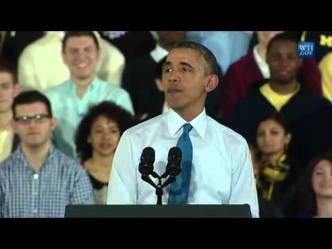 Obama Speaks At Michigan University, Ann Arbor - Full Speech