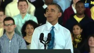 Obama Speaks At Michigan University, Ann Arbor - Full Speech