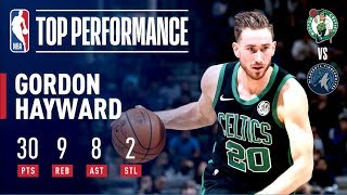 Gordon Hayward's Huge Night Leads Boston To Win Over Minnesota | December 1, 2018