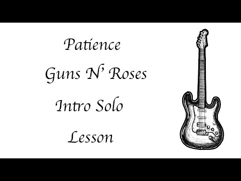 Guns N' Roses Patience – Intro Solo – Lesson