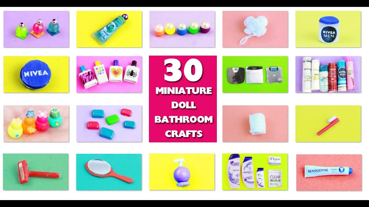 Diy Doll Bathroom Miniature Stuff Simplekidscrafts