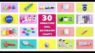 DIY | Doll Bathroom Miniature Stuff - simplekidscrafts - simplekidscrafts