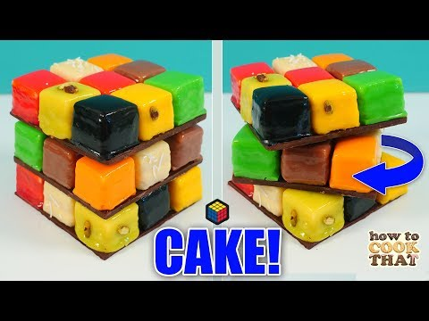 Epic Rubik's Cube Cake that TWISTS | How To Cook That Ann Reardon