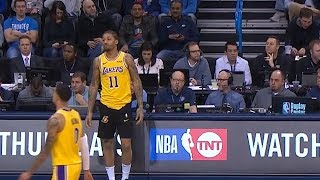 Michael Beasley Tries to Check-in With Warm up Shorts - Lakers vs Thunder | January 17, 2019