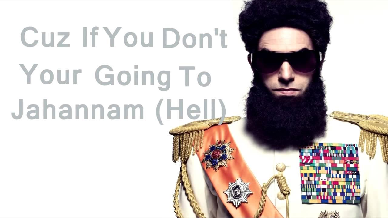 Download The Dictator Aladeen MotherFuckerz with English Lyrics :D