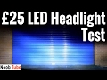£25 LED Car Headlight Beam Test Light Pattern H4 Nighteye 80W 6000K Main & Dip Bulbs Conversion Kit