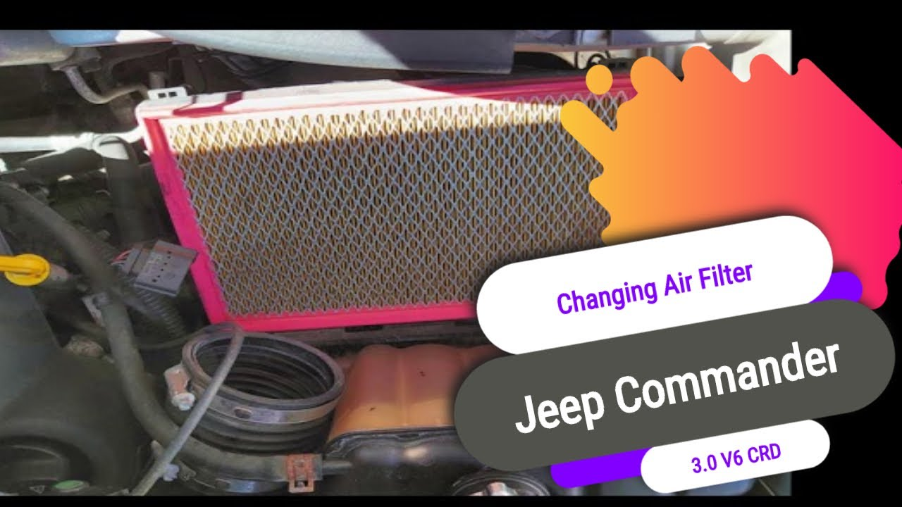 Changing the Air Filter on a Jeep Commander 3.0 V6 CRD
