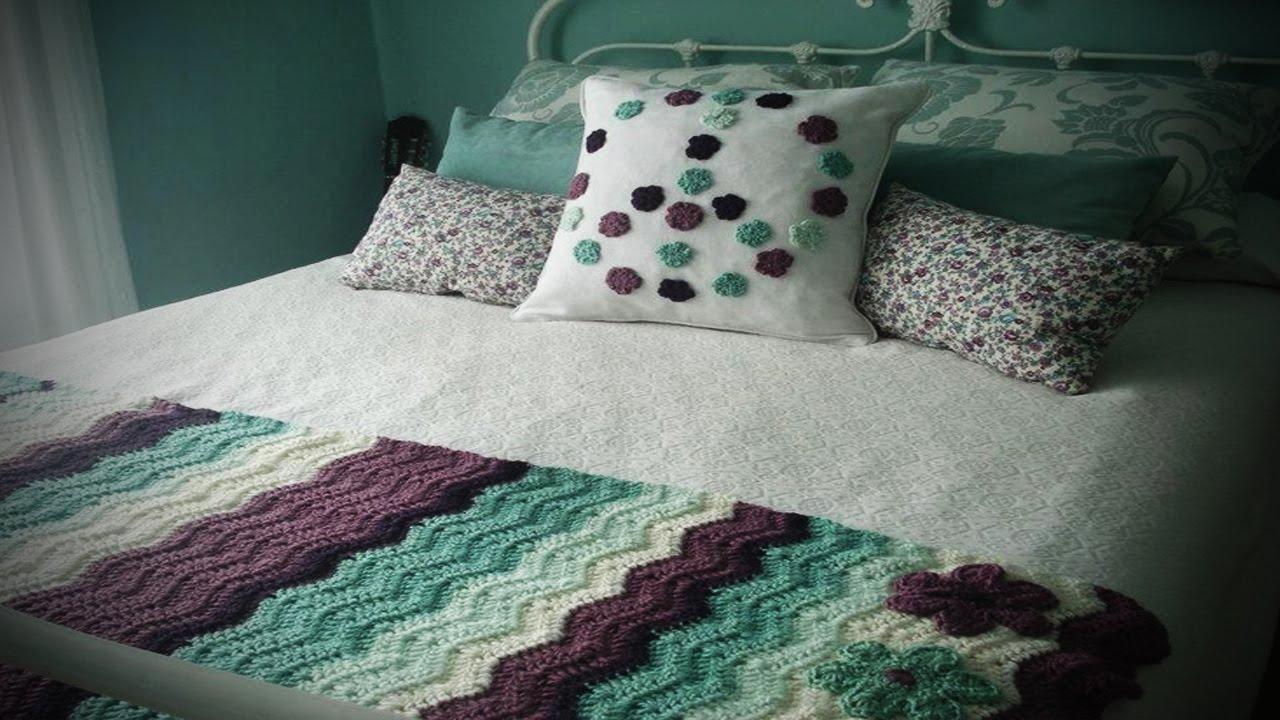 Pie de cama tejida a crochet decoraci n habitacion - Pie de cama ...