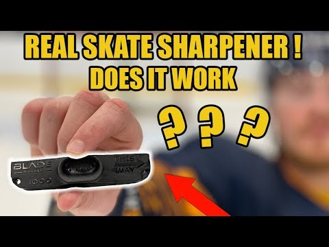 REAL Hand Held Skate Sharpener! But Does It Work ? Blade Barber Review