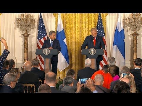 President Trump Full News Conference With Finnish President Sauli Niinistö